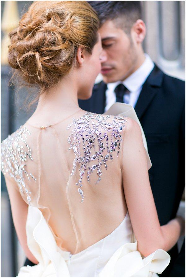 sheer and diamond back dress