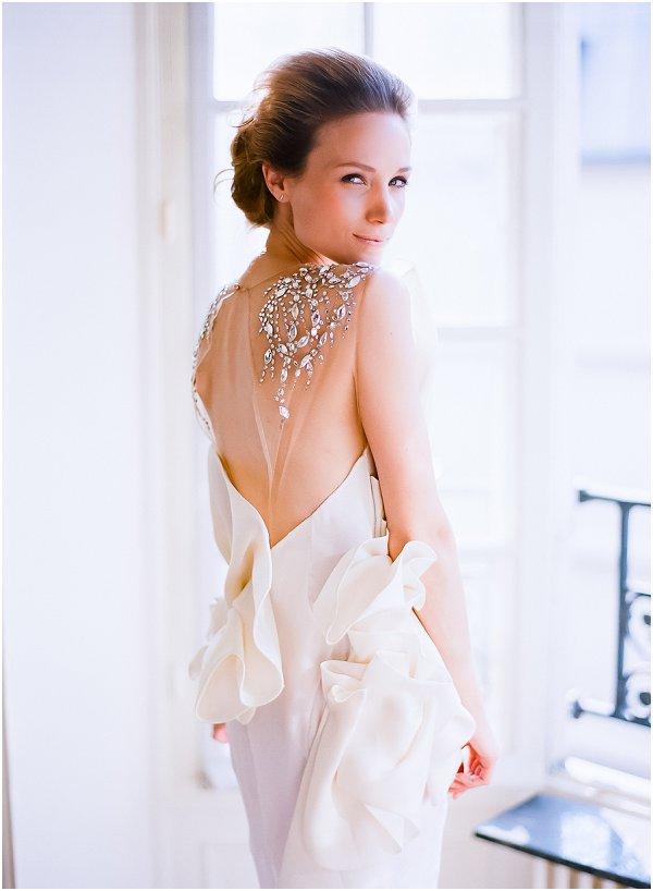 stunning back wedding dress