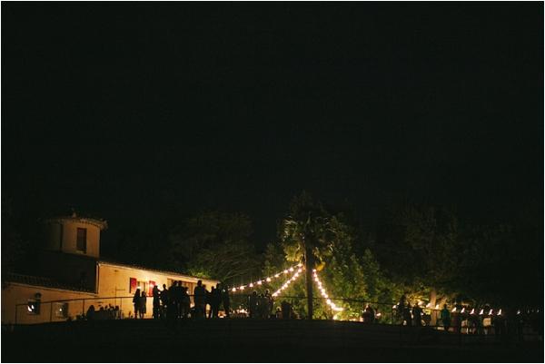 wedding at night