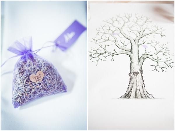 wedding guest tree lavender