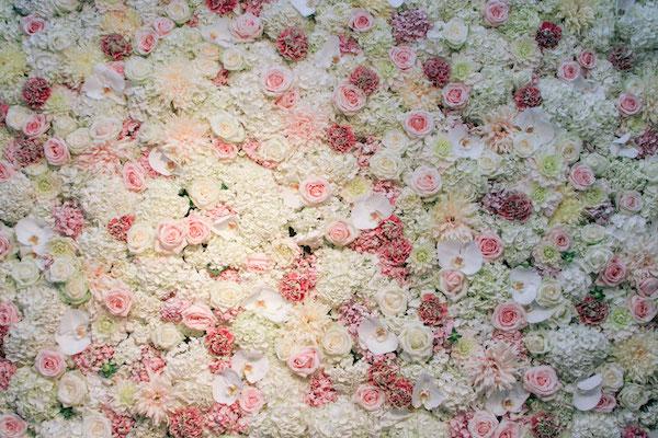 Flower wedding wall