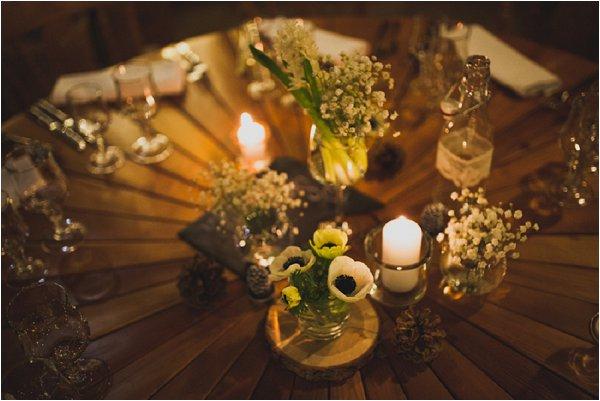 DIY winter wedding decor