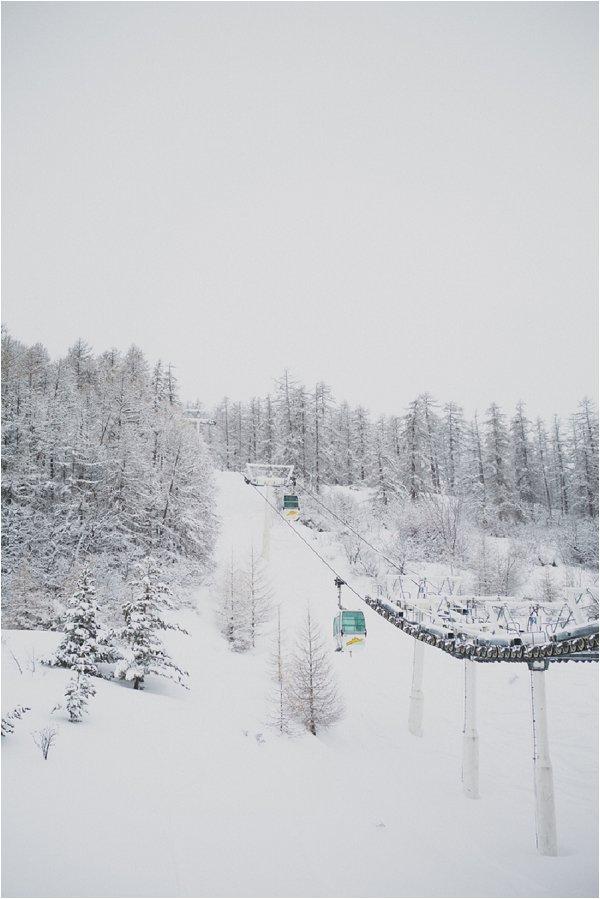 Snowy French Alps