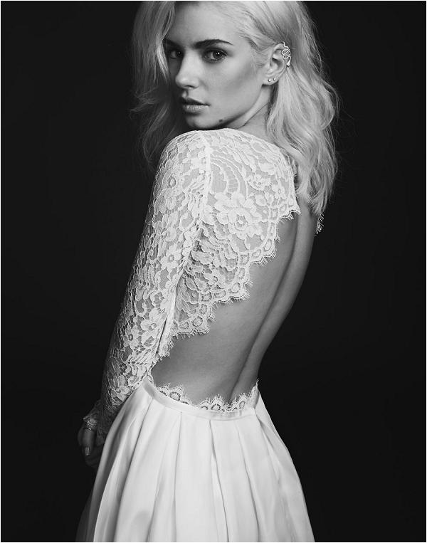 backless wedding dress by Rime Arodaky