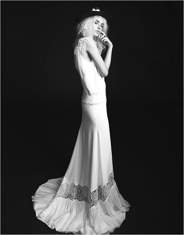 celebrity styled wedding dress