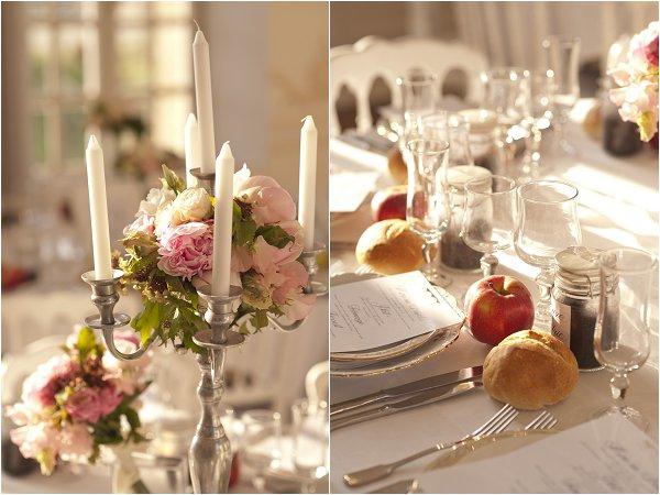 chateau elegant wedding decor