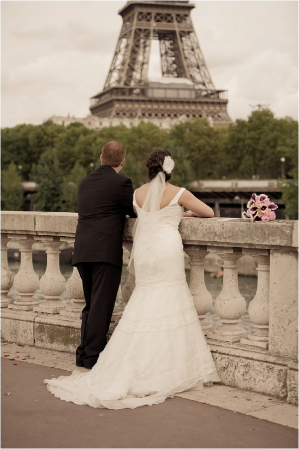 during a paris wedding