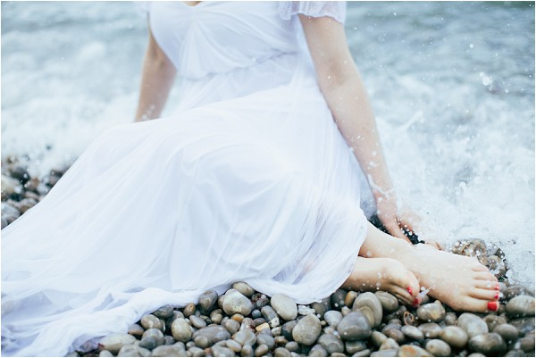 engagement session in the sea