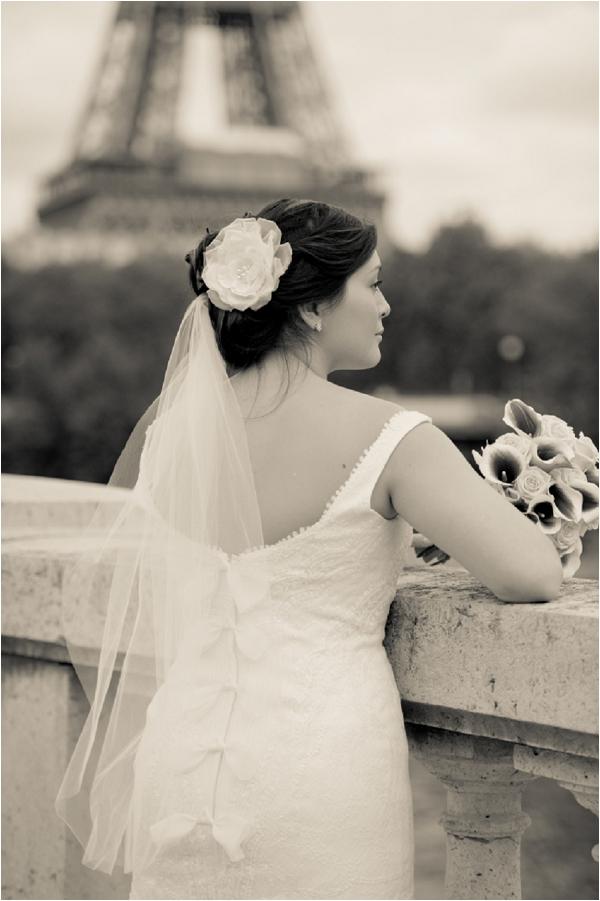 flower in hair bride