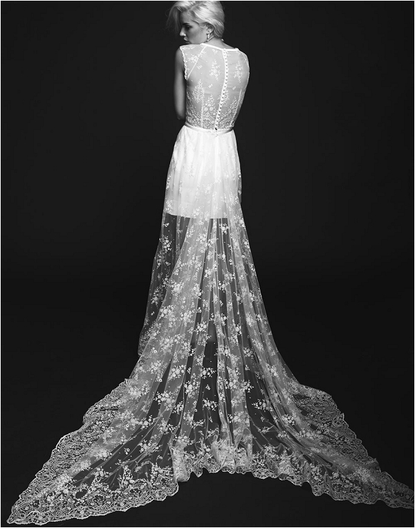 lace overlay wedding dress by Rime Arodaky by Rime Arodaky