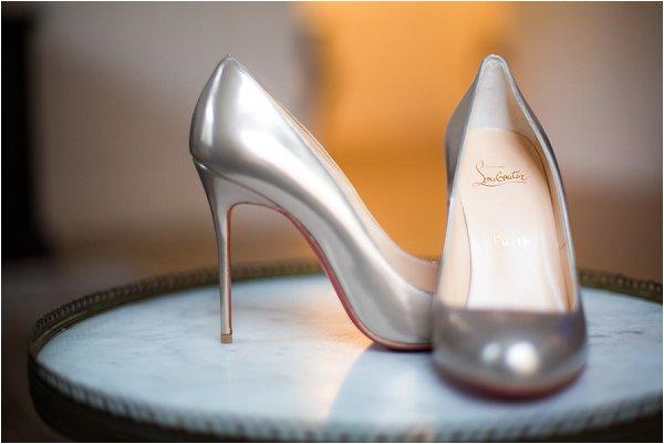 metalic louboutin shoes