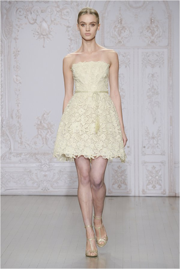 monique lhuillier collection short dress