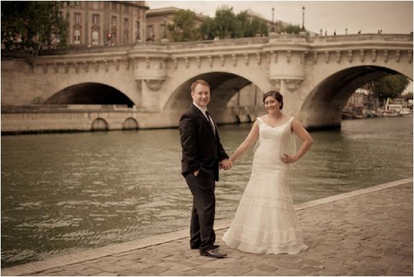 newlyweds in paris