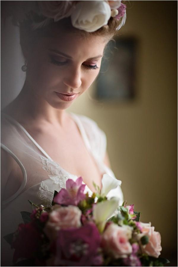 pink eye make up bridal