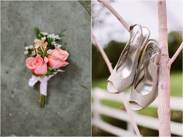 pink gold wedding accessories