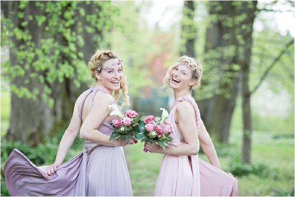 pink lilac bridesmaids