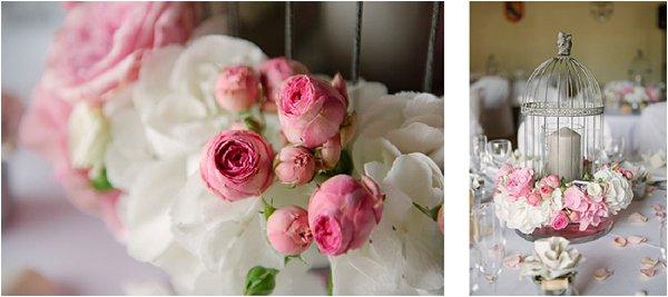pink roses wedding