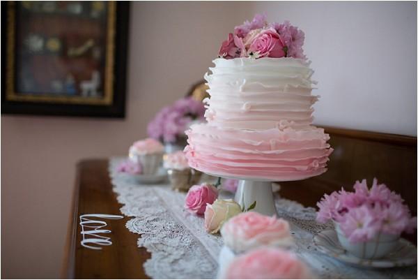 pinks wedding cake