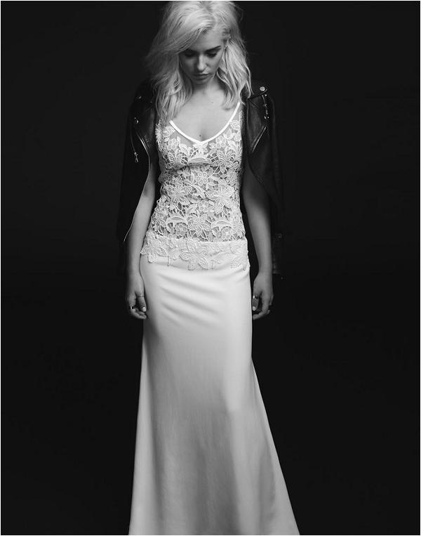 rock chic wedding dress by Rime Arodaky