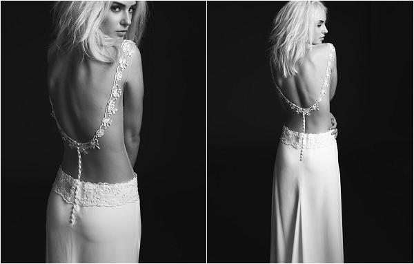 sheer back wedding dress by Rime Arodaky