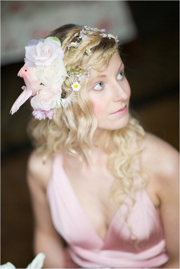 unique bridesmaid headdress