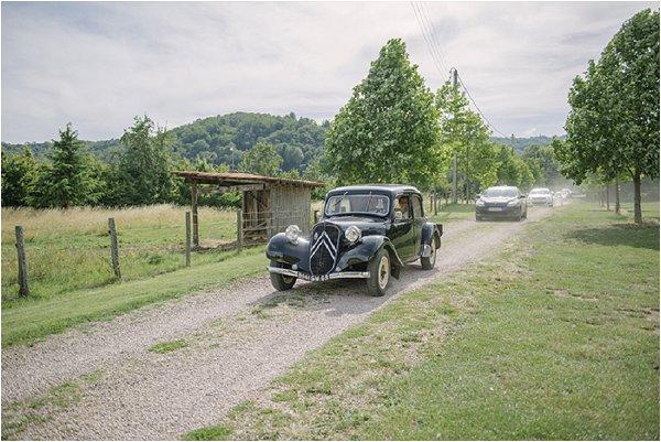 vintage wedding car auvergne