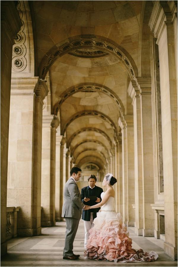 wedding at louvre