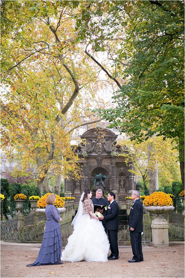 wedding in paris gardens