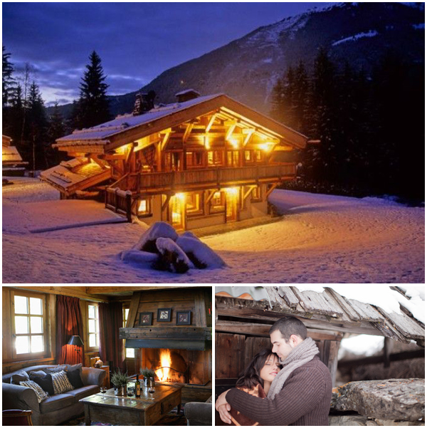 Festive marriage proposal Cosy Chalets