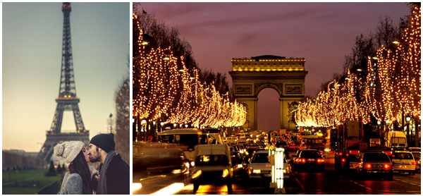 Festive Marriage proposal Eiffel Tower Arcde Triomphe