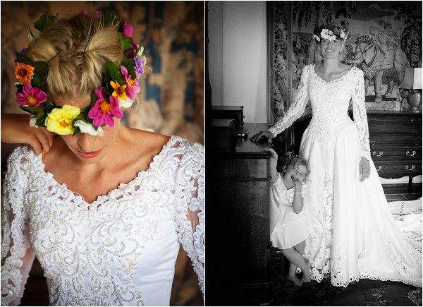 80s style bride