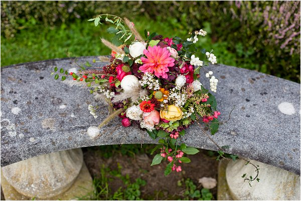 autumn bridal bouquet
