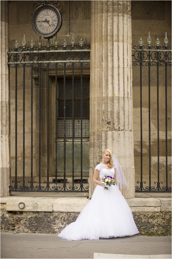 bride in paris