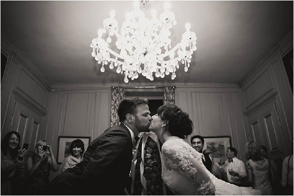 first wedding kiss