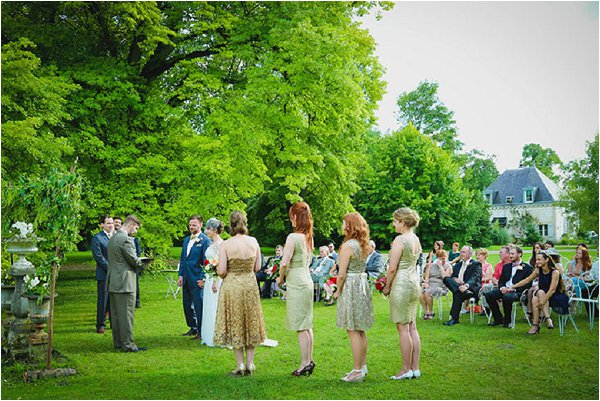 garden wedding ceremony France
