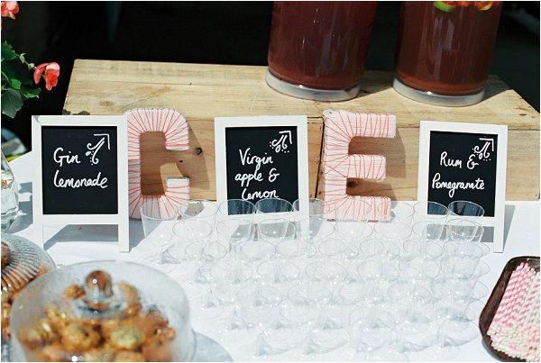 Homemade wedding buffet
