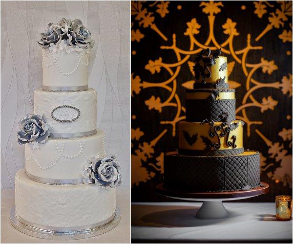 metalic inspired wedding cakes
