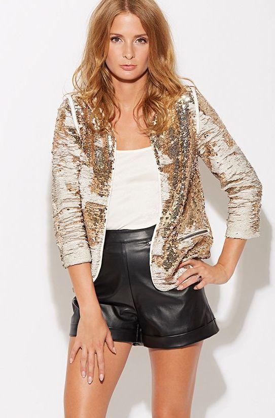 millie mackintosh gold jacket