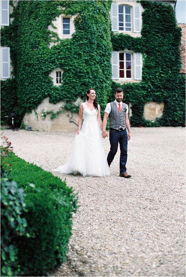 outside wedding chateau