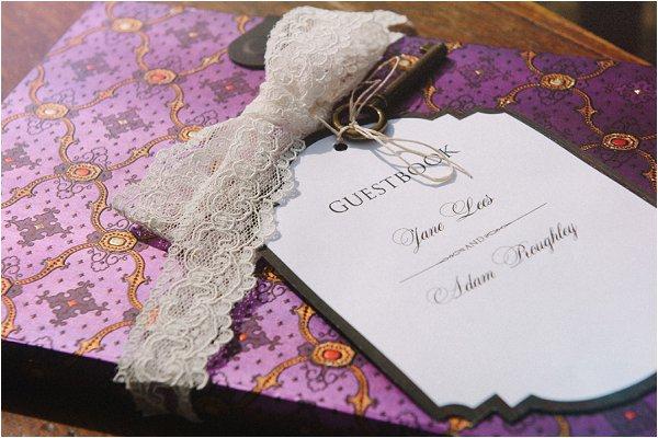 purple guestbook