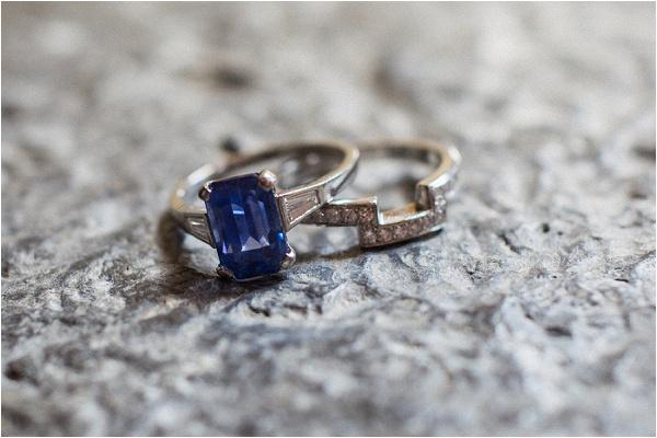 1950s vintage blue ring