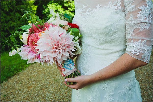 romantic bold bridal bouquet