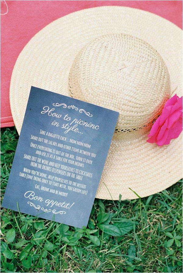 picnic wedding sign