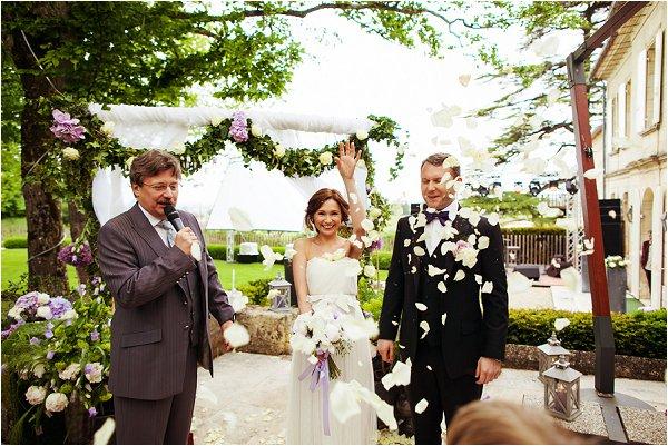 Russian wedding in France