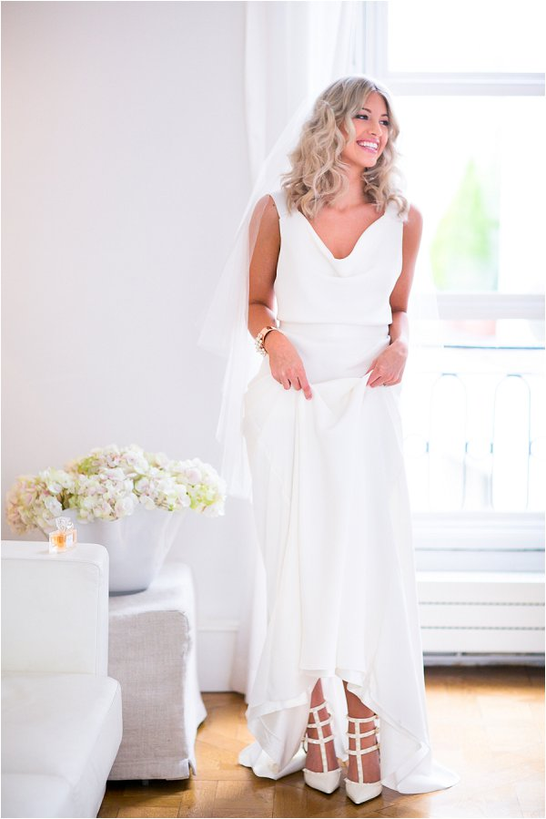 Valentino white bridal shoes