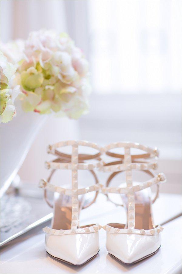 Valentino white wedding shoes