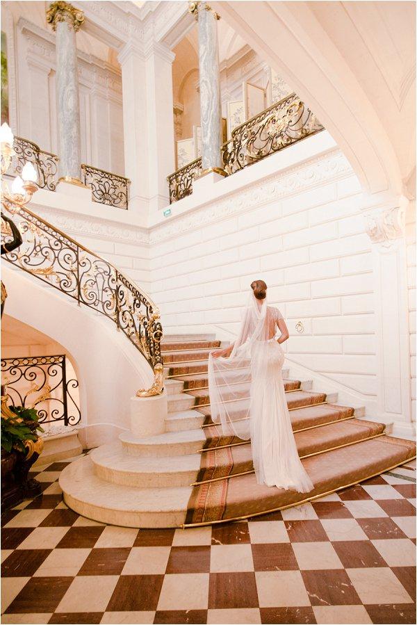 beautiful wedding stairs