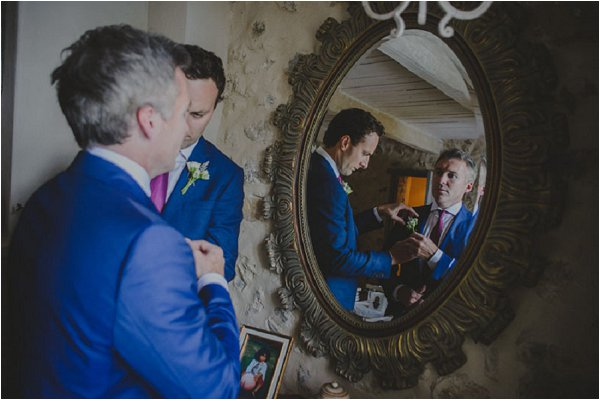 blue grooms attire