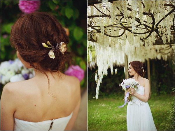 boho chic bridal hairstyle