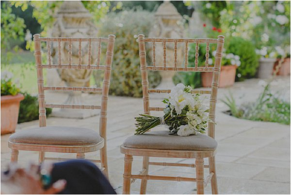 cream wedding flowers